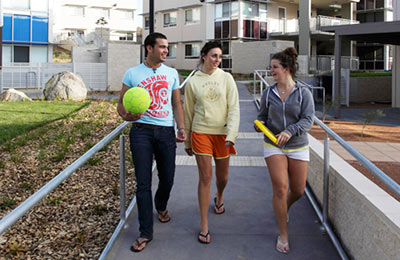Students living on campus