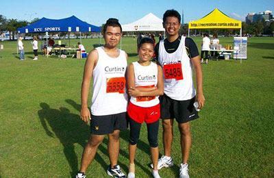 Student runners.