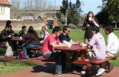Australian Lutheran College students.