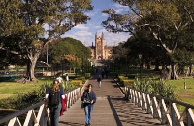 Approach to University of Sydney.