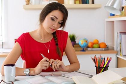 List making university student.
