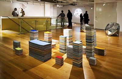 Art exhibition at Victoria University.